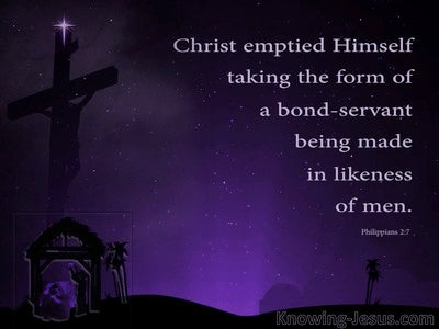 Philippians 2:7 He Emptied Himself Taking The Form Of A Servant (purple)